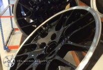 Black Gloss Diamond Cut Alloy