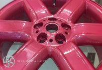 Lexus Custom Alloy Wheel Refurbishment Pink