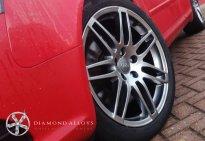 Diamond Alloys Painted Audi Wheel