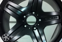 Mercedes G Waggon Matt Black Custom Alloy Wheel Refurbishment With Diamond Cut Lip
