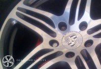 Porsche Diamond Cut Alloy Wheel Refurbishment