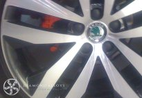 Skoda Diamond Cut Alloy Wheel Refurbishment