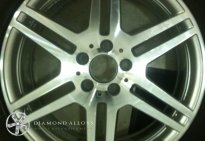 Diamond Cut Mercedes AMG alloy