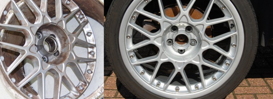 Split Rim Alloy Wheels Get a Great Refurbishment