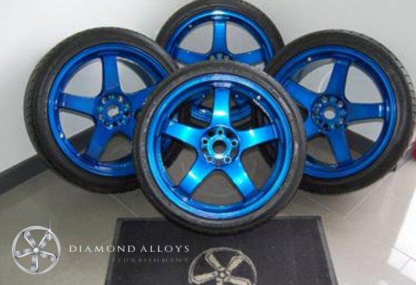 Blue Alloy Wheels